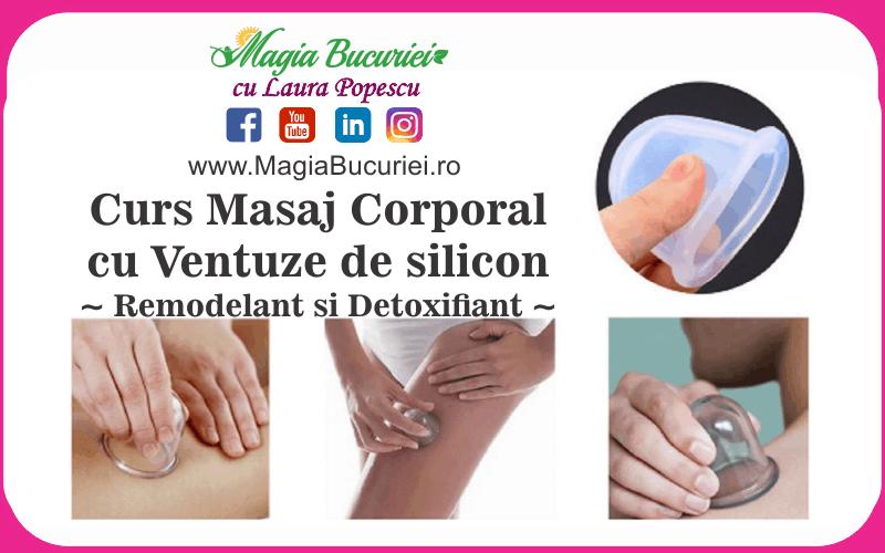 Curs Masaj Corporal cu Ventuze de silicon – Remodelant si Detoxifiant