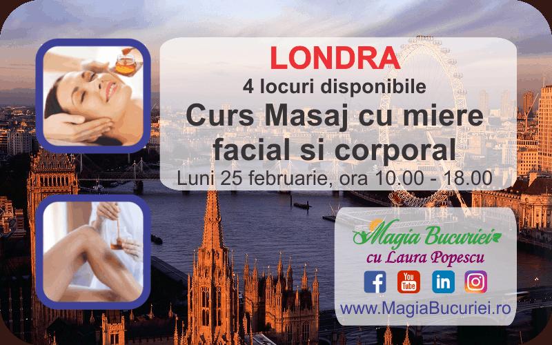 LONDRA – Curs Masaj cu Miere (facial si corporal) – Luni 25 februarie