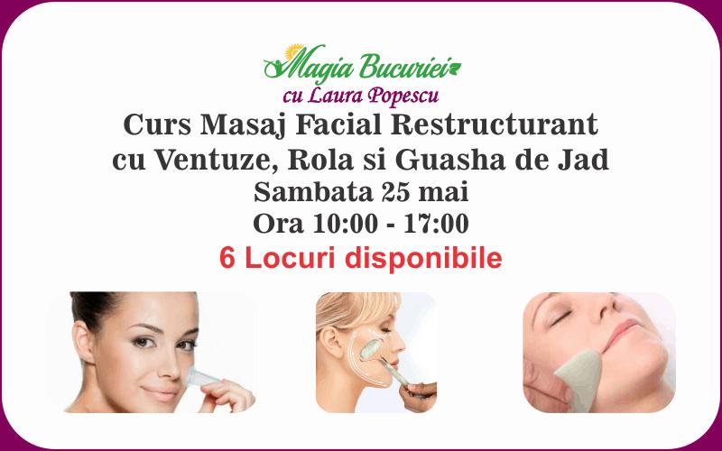 Curs Masaj Facial Restructurant cu Ventuze si Guasha de Jad – Sambata 25 mai 2019 – Bucuresti