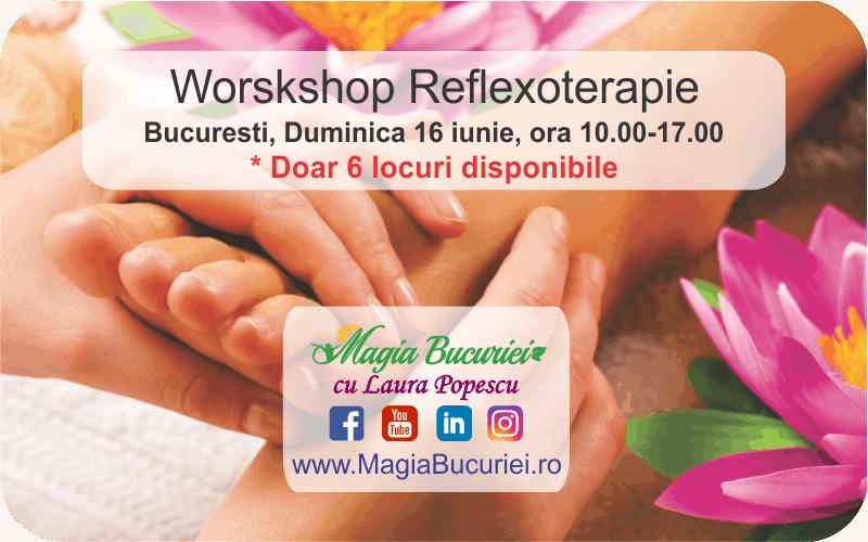 Workshop Reflexoterapie – Duminica 16 iunie – Bucuresti