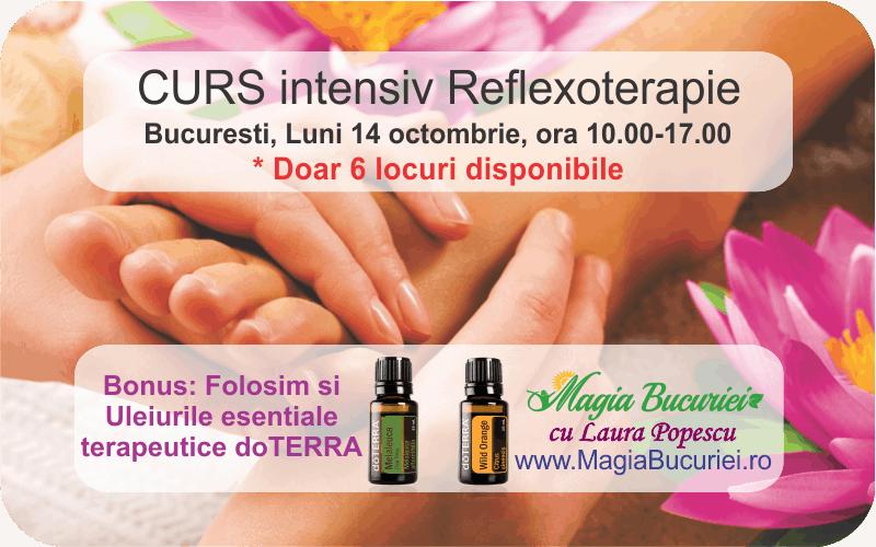 CURS intensiv Reflexoterapie & uleiuri terapeutice dōTERRA