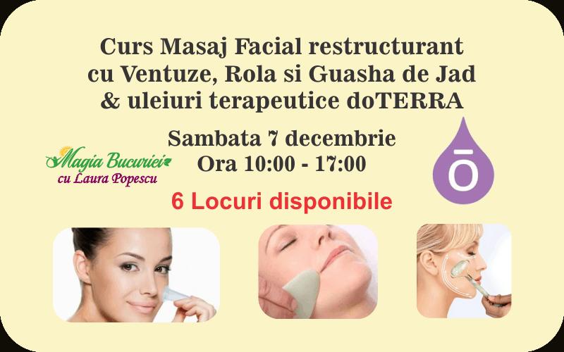 Curs Masaj Facial Restructurant cu Ventuze si Guasha de Jad