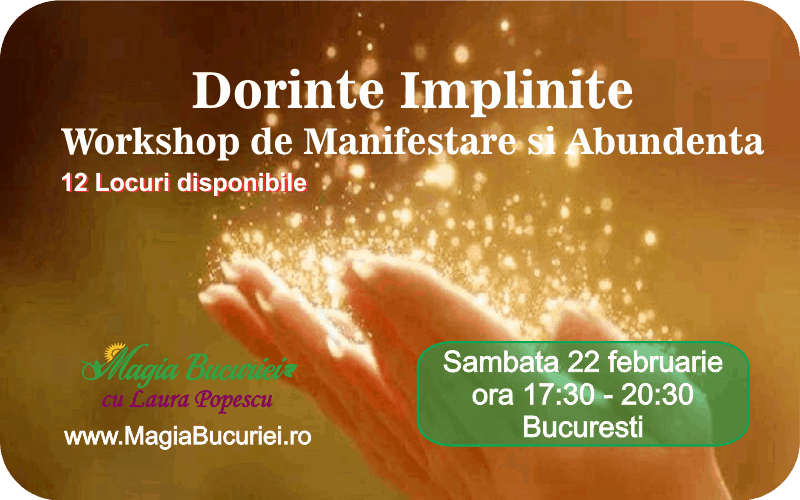 Dorinte Implinite – Workshop de Manifestare si Abundenta