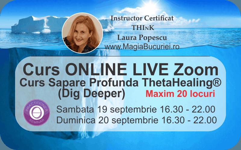 Curs ONLINE Live Zoom – Sapare Profunda (Dig Deeper) ThetaHealing®