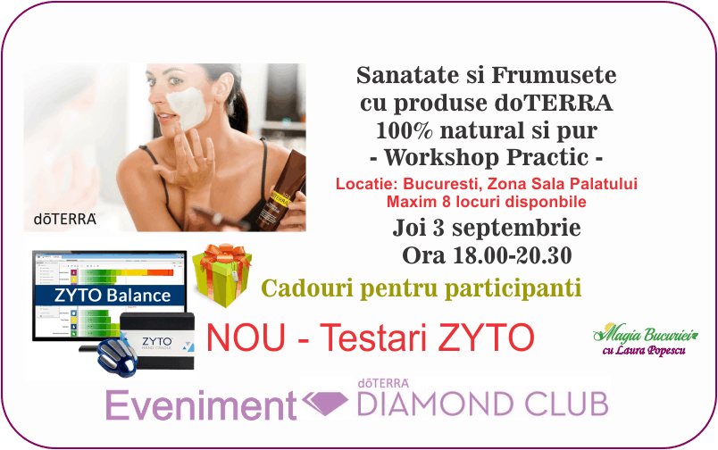 Workshop practic – Sanatate si Frumusete – Eveniment Diamond Club