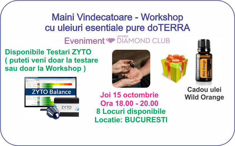 Bucuresti: Workshop doTERRA Maini Vindecatoare si Testari ZYTO