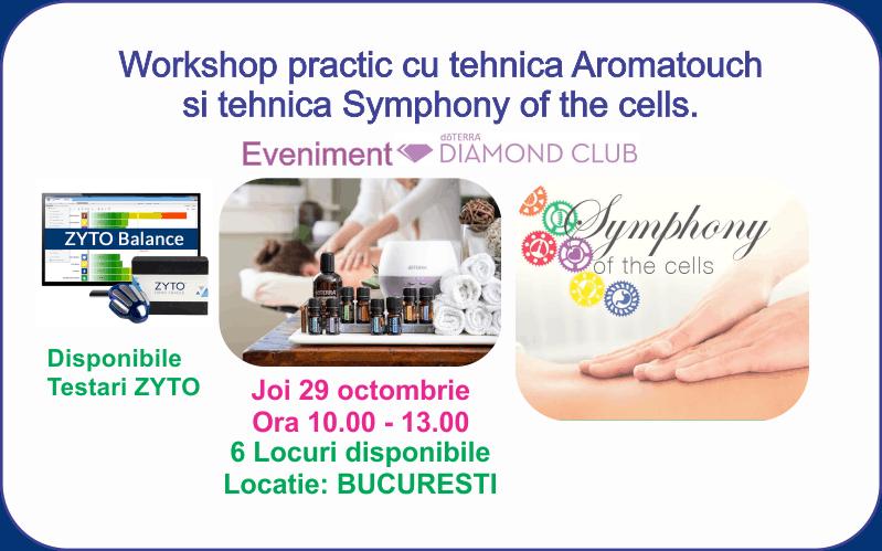 Bucuresti: Workshop practic cu tehnica Aromatouch si tehnica Symphony of the cells