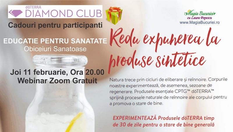 ONLINE Educatie pentru Sanatate – Eveniment Diamond Club – Obiceiuri Sanatoase