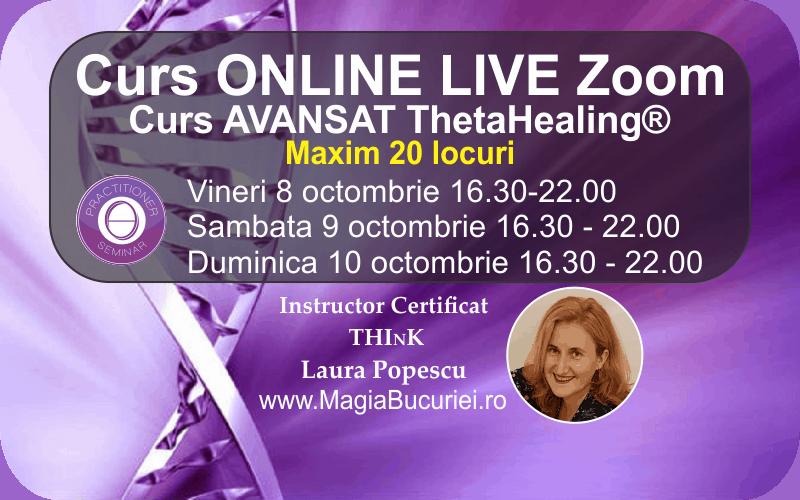 Curs Theta Healing® Avansat Online Live Zoom