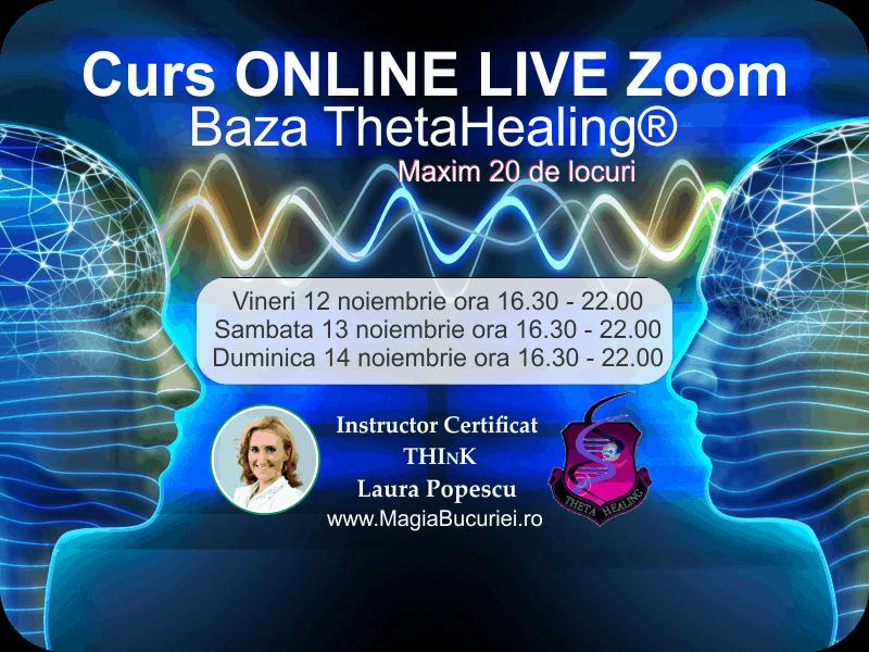 Curs Theta Healing® Baza – ONLINE Live Zoom